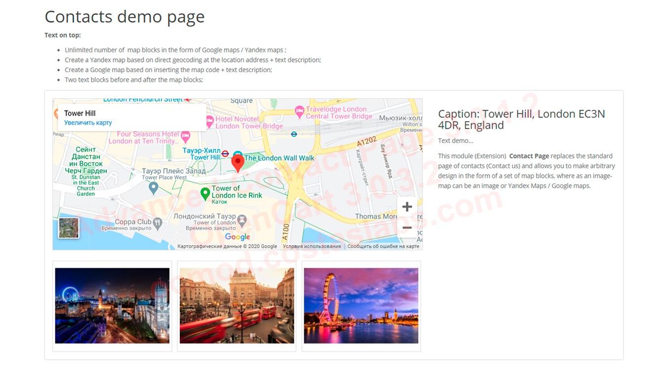 Advanced Contact Page